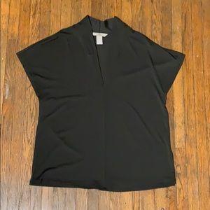 Dark green formal short sleeve top
